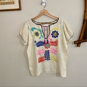 Corey Lynn Calter floral embroidered floral blouse. Small.